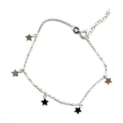 Sterling Silver  tiny star  charms Bracelet