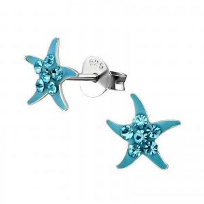 Sterling Silver Novelty Starfish Studs