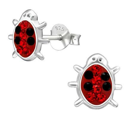 Sterling Silver Novelty Ladybird Studs