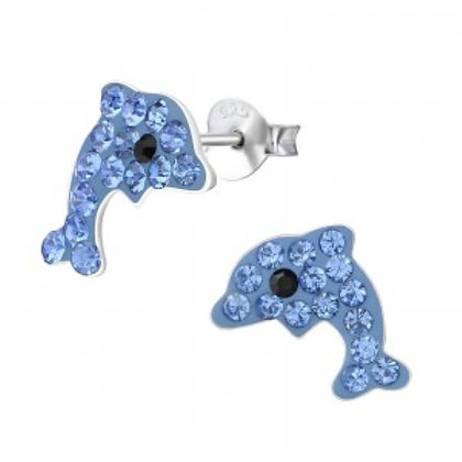 Sterling Silver Novelty Dolphin Studs