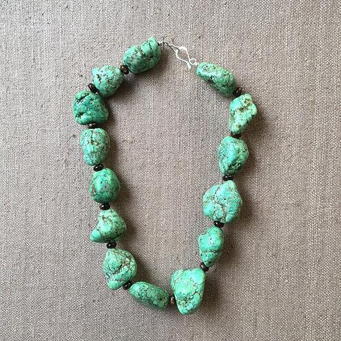 Magnesite and bronzite necklace