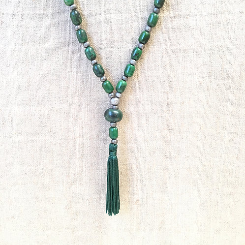 Green Turquoise with Ancient Serpentine