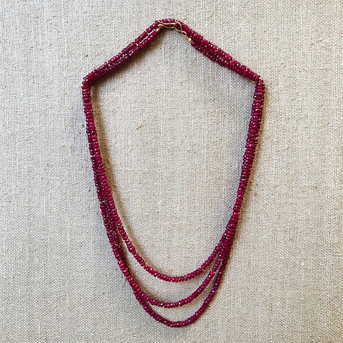 Ruby rope necklace