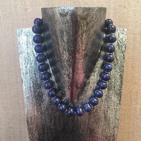 Lapis Lazuli Necklace with Sterling Clasp