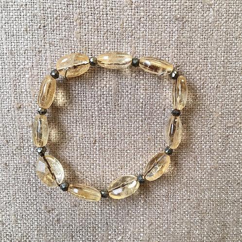 Citrine stretch bracelet