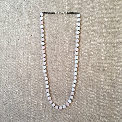 Rose Quartz with Pearls