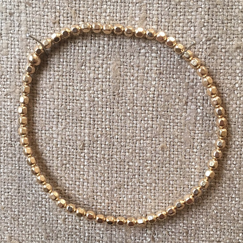 3mm 14K gold filled stretch bracelet