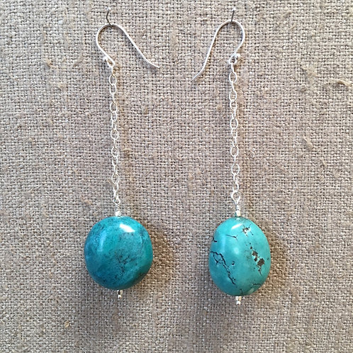Turquoise chain earrings