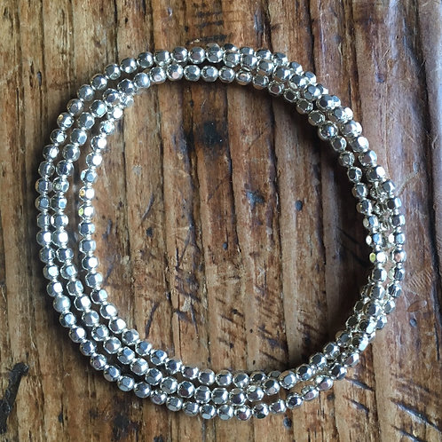 3mm Sterling silver wrap bracelet