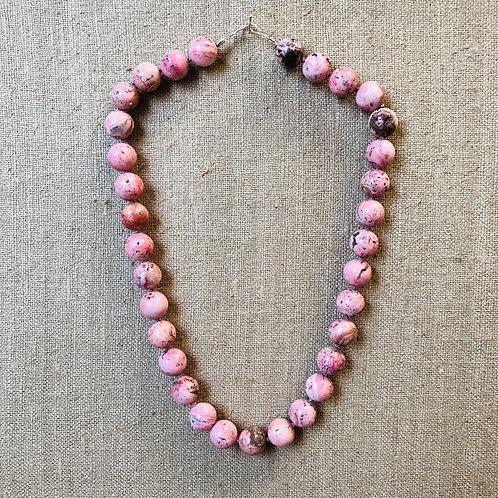 Rhodachrosite necklace