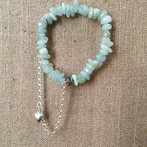 Aquamarine and Sterling Bracelet