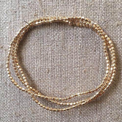 2mm 14K gold filled wrap bracelet