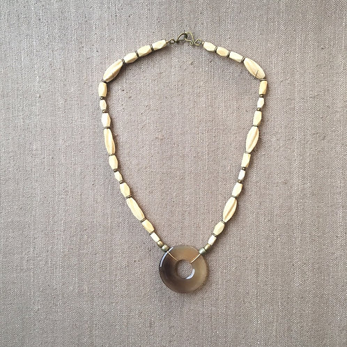 Bone and horn necklace