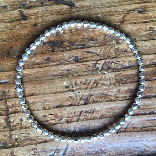 3mm Sterling silver stretch bracelet