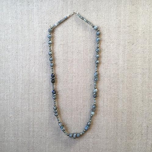 Labradorite and pyrite Necklace