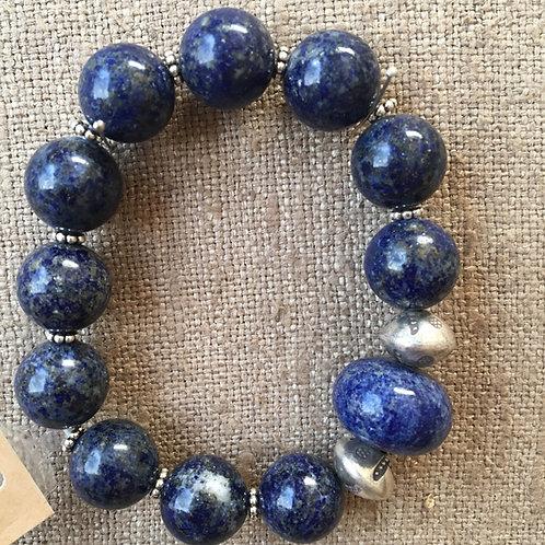 Lapis and sterling bracelet