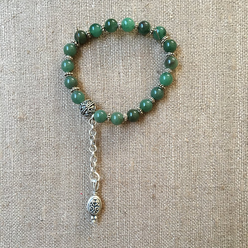 Aventurine and Sterling Bracelet