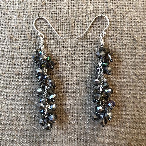 Crystal chain earrings