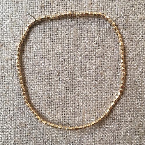 2mm 14K gold filled stretch bracelet