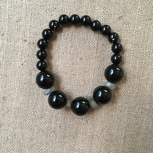 Black Onyx and Labradorite Bracelet
