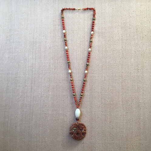 Red Agate, Carnelian and Jade
