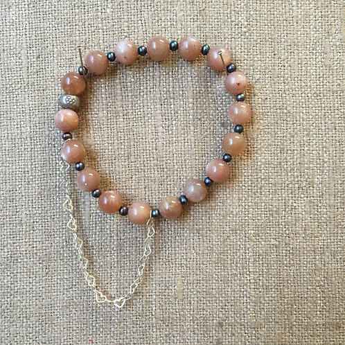 Sandstone and Rice Pearl with Sterling