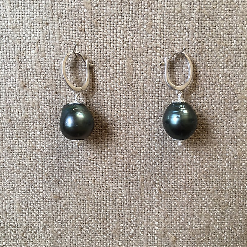 Grey pearls with sterling silver