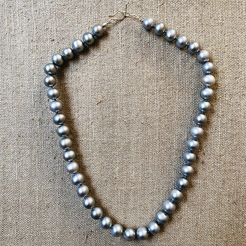 Silver pearl 10mm necklace
