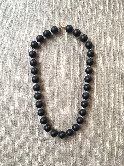 Onyx and vermeil necklace