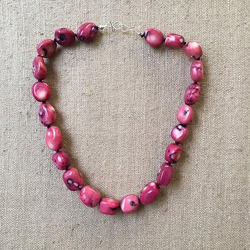 Fuchsia coral necklace