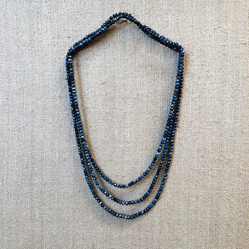 Sapphire rope necklace