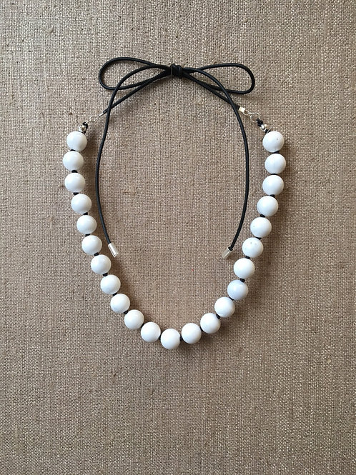 White agate adjustable choker