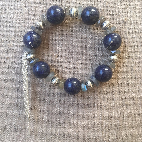 Lapis and labradorite bracelet