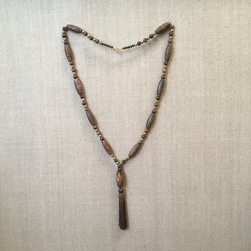 Earth toned African beaded Necklace