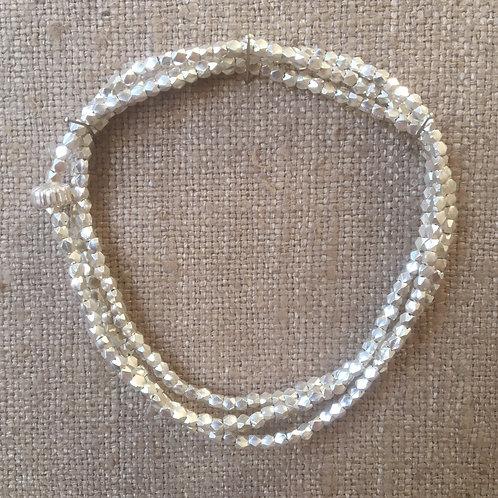 Liquid sterling silver bracelet