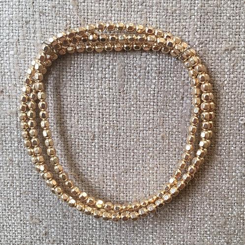 3mm 14K gold filled stretch wrap bracelet