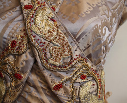 Sansa Wedding Embrodiery Front