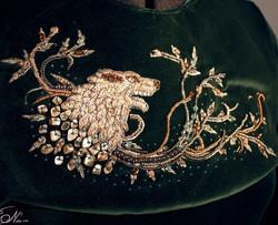 Sansa Direwolf Embroidery