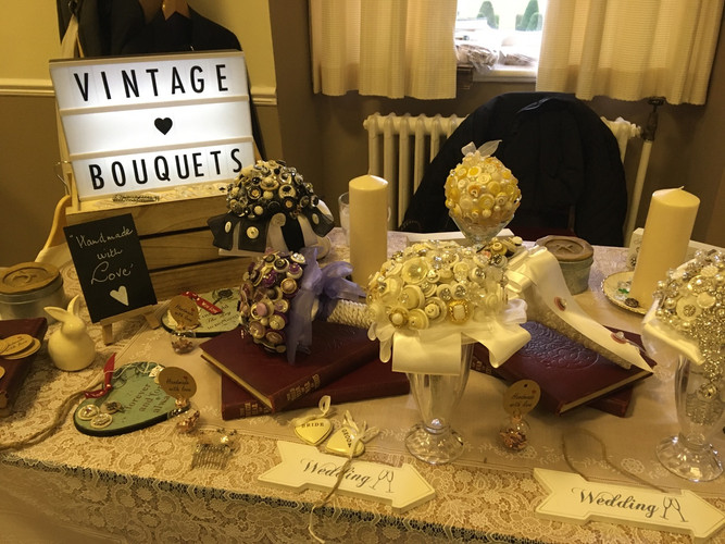 Vintage Button Bouquets ©
