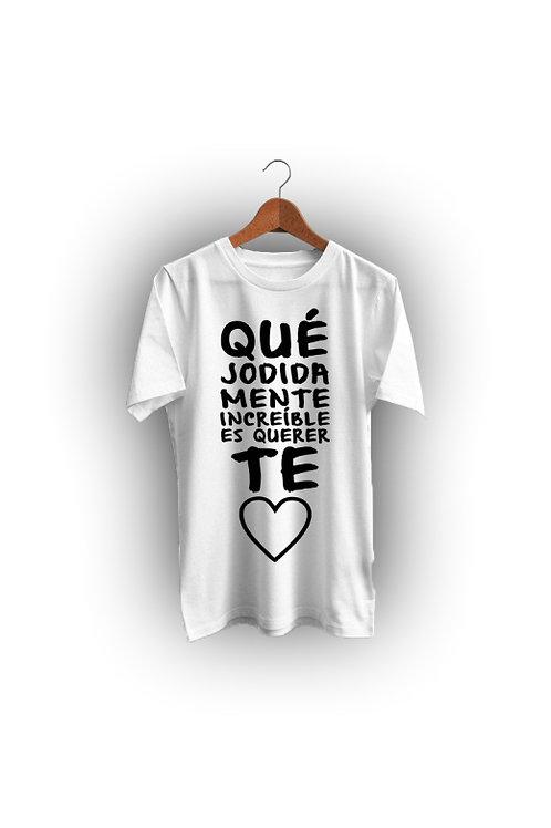 Camiseta Blanca TRALARÁ (mujer)