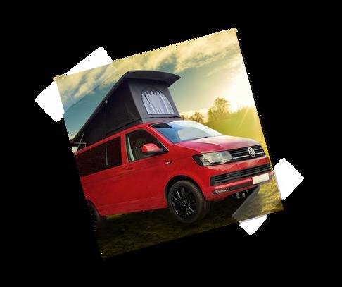 Red Vw T6 Campervan