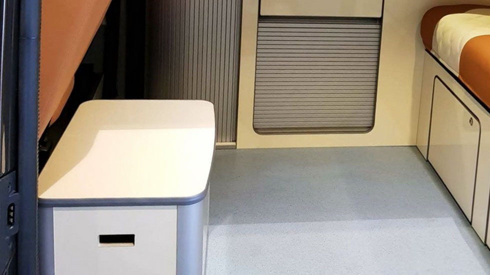 Campervan buddy seat with porta potty fitted from