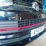 VW campervan T6 lower grille with GTI style red