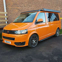 VW campervan T6 with side awning, new rims and lowered suspension