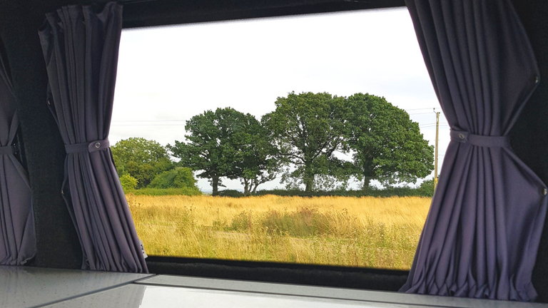 Campervan curtain fitted from