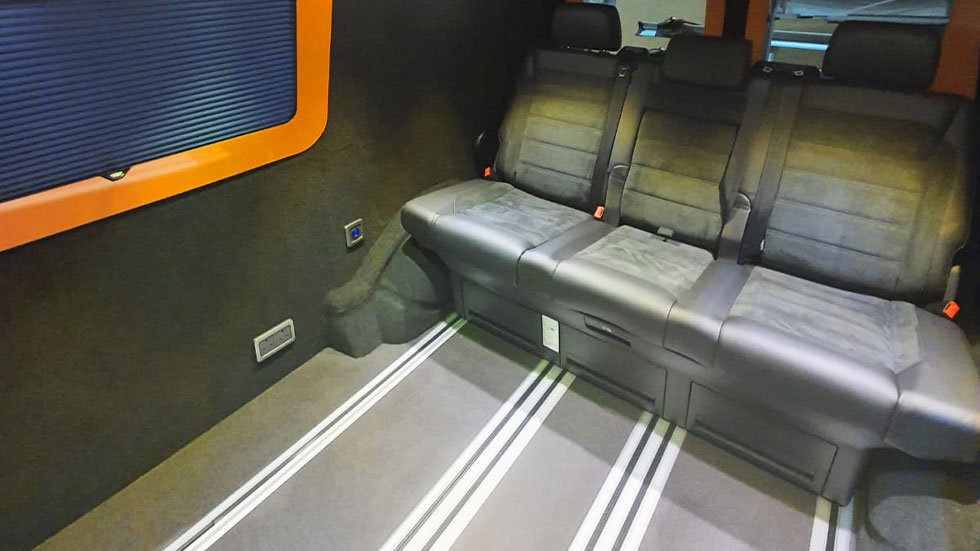 Sliding campervan seats fitted from