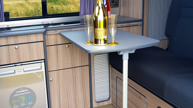 Campervan tables & rails fitted from