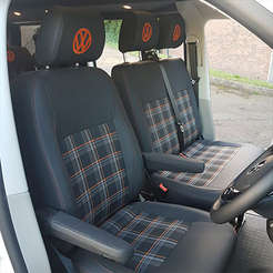 GTI style black and orange front seats