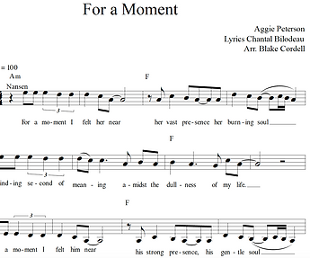 For a Moment from Forward sheet music