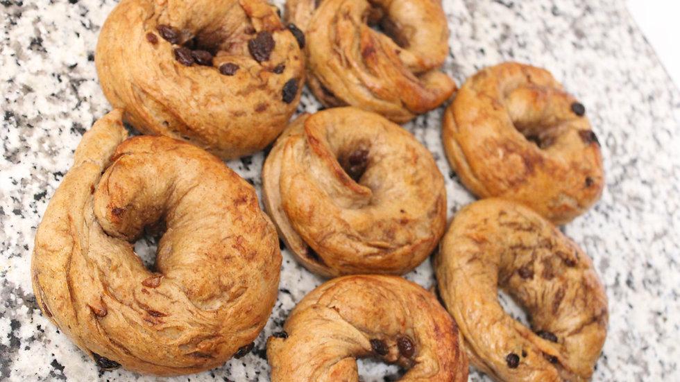 Cinnamon Raisin Bagels (Baker's Dozen)